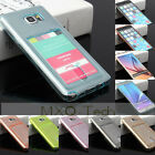 Soft TPU Gel Silicone Card Slot Holder Case Cover For Samsung S6 Edge+/iPhone6S+