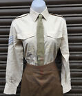 BRITISH ARMY LADIES FAWN FAD POLYCOTTON LONG SLEEVED SHIRT-GOODWOOD,W&P REVIVAL
