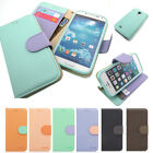 Slim Flip Leather Wallet Case Cover w/Silicone For iPhone / Galaxy S / Note /LG