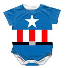 Baby Toddler Romper crawling clothes Costume Captain America Bodysuit One-pieces