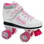 NEW! ROLLER DERBY SPARKLE LIGHTED QUAD SPEED SKATES GIRL'S sz 2 YOUTH return