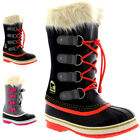Unisex Kids Youth Sorel Joan Of Arctic Winter Snow Warm Waterproof Boots UK 13-6