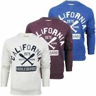 New Mens California Jumper Sweater Casual Top Gym Wear Smart Design Embroidered