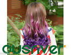 Fashion 5Gradient Colours 48CM Wavy Synthetic Women Lady Wig Hair Piece Harajuku