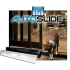 AutoSlide Deluxe Automatic Opening Patio Pet Dog Door System  in Black or White