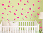 70 Butterlies Removable wall sticker decal Vinyl sticker for Kids or Nursery