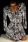 BOSTON PROPER Animal Leopard Print  Knot Baby Doll Stretch Knit top shirt  XS 2