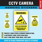 Shop CCTV Thieves Will Be Prosecuted Stickers Anti Theft Sticky Labels