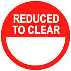 Red Reduced To Clear Price Point Stickers Sticky Swing Tag Labels 20mm - 45mm