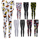 Womens Bat Novelty Car Doll Pineapple Fruit Moustache Party Stretch Leggings