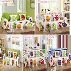 Canvas Owl Pattern Pet Dog Couch Sofa Furniture Protector Cover For 1 2 3 Seater