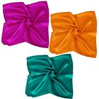 BMC 3pc Mixed Design Large Size Lightweight Polyester Square Fashion Scarves Set