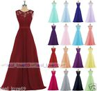 New Lace Evening Formal Chiffon Party Ball Gowns Prom Bridesmaid Dress Size 6-18