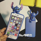 Cute 3D cartoon disney stitch Back silicone case cover for apple iphone6 6S plus