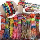 Lots Of 10/50Pcs String Lucky Colorful Friendship Braid Strand Handmade Bracelet