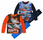 Boys Disney Pixar Planes Pyjama Set New Kids Long Sleeved PJs Ages 3-8 Years