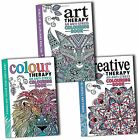 Art Colour and Creative Therapy Anti Stress Adult Colouring 3 Books Collection