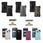 New! Otterbox Defender / Commuter Series Hybrid Case For Htc One (m7)