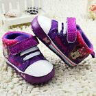 Toddler baby girls purple Minnie crib shoes shoes size 0-6 6-12 12-18 Months