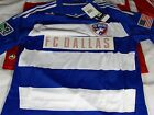 New Adidas Formotion FC Dallas Home Away SS & LS Authentic Soccer Jersey $110