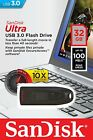 SanDisk Ultra 32GB USB 3.0 Flash Drive Memory Stick 100MB/s Transfer Speed CZ48