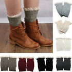 Women's New Crochet Knitted Lace Trim Boot Cuffs Toppers Leg Warmers Socks YS