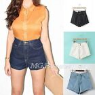 Vintage Retro Womens Denim High Waisted Shorts Jeans Hot pants