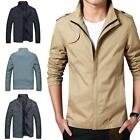 Hot Spring Winter Men Jackets Fashion Casual Collar Slim Short Thin Coat Zipper