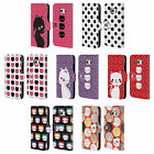 HEAD CASE DESIGNS CATS AND DOTS LEATHER BOOK WALLET CASE FOR SAMSUNG PHONES 1