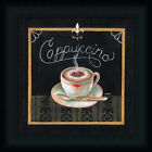 Cappuccino Tava Studios 12x12 Chalkboard Sign Black Art Print Framed Picture
