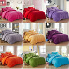 Luxury Flannel Solid Bedding Duvet Quilt Cover Set With Pillowcases