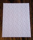 FROST Snowflake Floral Embossed Card Stock - Set of 12 Sheets - A2 Size