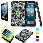 U.S Defender Hybrid Shockproof Heavy Rubber Hard Case Cover For iPad Mini 1/2/3