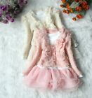 New  Girls Outfit Jacket Tutu Top Dress 2pcs  Party outware size 1-5yrs