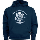 US Coast Guard sweatshirt hoodie blue men's sweats uscg hoodie sweat shirt