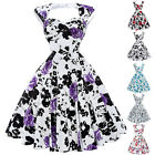 Women Vintage Style 1950 Swing Party Pinup Short Prom Dress Plus Size