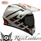 BELL 2016 MX-9 ADVENTURE RAID ORANGE WHITE MOTORBIKE OFFROAD GREENLANING HELMET