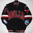 Authentic NBA Chicago Bulls Embroidered Cotton Twill  Jacket  JH Design New