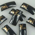 Black Gold Rabbit Fashion Design False French Acrylic Nail Tips New