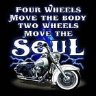 Biker Hoodie 4 Wheels Move The Body 2 Wheels Move The Soul Ride Davidson Road