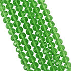 FACETED RONDELLE CRYSTAL GLASS BEADS 4x3mm 6x4mm 8x6mm 10x8mm 12x9mm