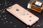KINGXBAR Rose Gold Butterfly SwarovskiCrystal Cell Phone Case For iPhone 6S Plus