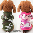 Fashion Jacket Costume Camouflage Pet Puppy Clothes Coat Cat Dog Hoodie Sweater
