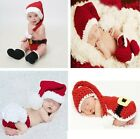 Baby Boy girl  Christmas Set outfits Crochet Knit Photo Prop Newborn -2yrs