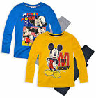 Boys Official Disney Mickey Mouse Pyjamas New Kids Long Sleeved PJ Set 3-8 Yrs