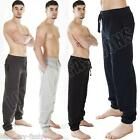 New Mens Plain Fleece Cuffed Ankle Joggers Jogging Tracksuit Bottoms Size S XXL