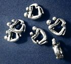 Charm European style mother, child silver plated large hole beads finding cfp068