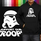 Support Our Troops Star Wars Stormtrooper Pullover Hoodie Jacket Hooded Sweater $31.5 USD on eBay