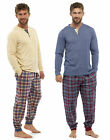 Mens Loungewear Brushed Check Flannel Cotton Pyjama Set Winter Warm Jersey Pjs