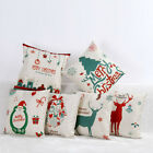 Christmas Cushions Case Pillow Cover Christmas Home Decor Sofa Bed Pillow Cover